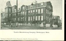 NEWBURYPORT,MASSACHUSETTS-TOWLE'S MANUFACTURING COMPANY-B/W-PRE1920(MASS-N)