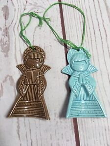U.S. Virgin Islands St. Thomas 2 Angels Praying Singing Ceramic Ornament Art