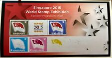 Singapore stamps - 2015 World Stamp Exh color proof MS MNH flags SG50