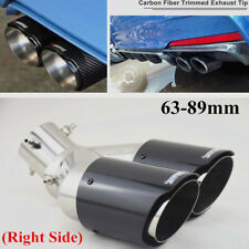 Twin Outlet Carbon Fiber Straight Adjustable 63MM 89MM Car SUV Exhaust Pipe