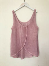 NWOT Cloth Stone Tank Top Women's Sz M Medium 100% Cotton Maroon Open Back