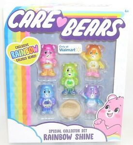 Care Bears RAINBOW SHINE Special Collector's Set BRAND NEW Walmart 2020 Exclusiv