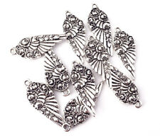 31x12mm Antique Silver Plated Floral Spoon Angel Wing Charm Q10 66378
