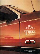 Vauxhall Opel Cavalier Carlton Senator CD 1984 UK Market Sales Brochure