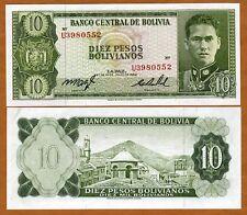 Bolivia, 10 Pesos Bolivanos, 1962, P-154, UNC
