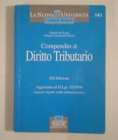 D261 COMPENDIO DI DIRITTO TRIBUTARIO 12 EDIZIONE DE LUCA EDIZIONI SIMONE 2004