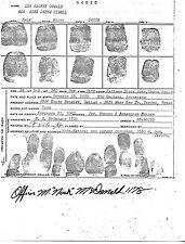 Lee Harvey Oswald Fingerprint Card - Autographed - JFK - John F. Kennedy