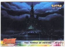 POKEMON English BLUE TOPPS LOGO Card # 18 THE TEMPLE OF MEWTWO
