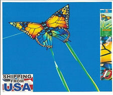 "Butterfly Kids Kite 36"" x 26"" + Line + Handle + Two 60""-Tails by Paul Gunther"