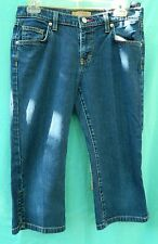 Tommy Jeans Dark Blue Denim Cotton Blend  Capris Size 7 JRS.