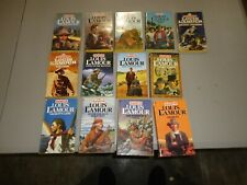 """VINTAGE Louis L'Amour LOT 13 paperback books from """"The Sackett Series"""""""
