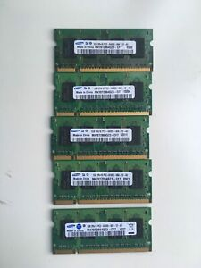 JOBLOT 7x SAMSUNG, ADATA, ASint 1GB PC2 DDR2 MEMORY RAM