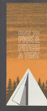 How to Pick & Pitch a Tent Booklet National Cotton Council 1960s