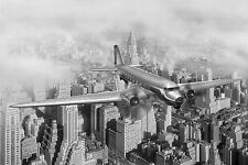 STUNNING NEW YORK VINTAGE AEROPLANE CANVAS #465 A1 WALL HANGING PICTURE ART