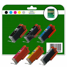 6 Ink Cartridges for Canon iP8750 MG7150 MG7550 MX925 non-OEM 550/1 GY