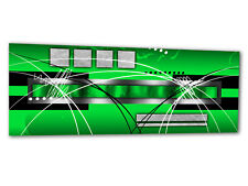 """Glass Wall Art AG312500048 PICTURE STYLE STRIPES GREEN 49.2""""x19.7"""" / 125x50cm XX"""