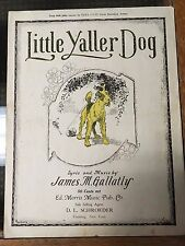 Little Yaller Dog James M Gallatly 1919 no writing, great front cover