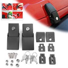 For Jeep Wrangler JK 2007-18 Metal Locking Hood Lock Catch Latches Kit Tool Pair