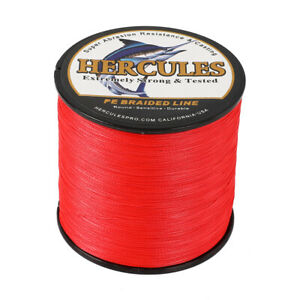 Braid Fishing Line 1000M 1094Yds 6-100LB Test Color Select Hercules PE 4 Strands