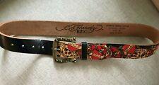 Ed Hardy Belts Love Kills Slowly - Womens Belt Sz M - Leather Style EH3025