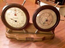 New listing Vintage Swift Clock & Barometer Desk Set with Ship's Wheel Design
