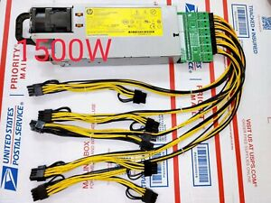 1500W PSU Power Supply Kit 6-8pin GPU mining #Ethereum and more (200-240V only!)