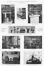 1906 4x Antique Engineering Prints -Board of Trade Electric Standards Laboratory