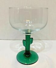 Collectible Libbey Green Cactus Stem Margarita Tequila Cocktail Glass