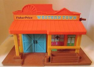 Fisher Price Western Town Building Vintage #934 1983
