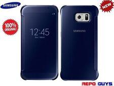 Samsung Galaxy S6 EF-ZG920B Original CLEAR View Flip Case Cover BLUE