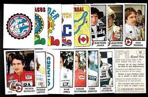 1980 PANINI F1 RACING GRAND PRIX STICKER AND PROMO FORMULA ONE SEE LIST