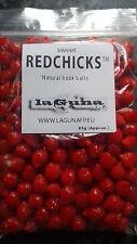 RED CHICKS! Natural Fishing bait Carp, Tench, Bream - Hook, Band or Hair rig PVA