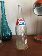 Vintage Pepsi Cola Beverages Soda Pop Canadian Clear Glass Bottle 750ml With Cap