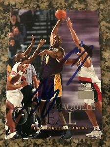 Shaquille O'Neal Signed 1999-00 Skybox Card Auto Lakers Read Description