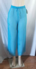 SHEER C-THRU PANTS EMBROIDERY DESIGNS BEACH COVER BLUE TURQUOISE XL