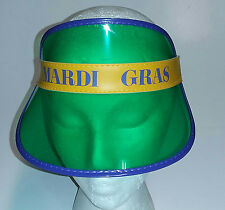 Transparent Mardi Gras Fat Tuesday Visor Purple Green Yellow Hat 913c6a08a735