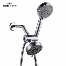 Dual 5 Setting Handheld Shower head and Showerheads Combo System + 1.5m Hose