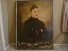 """USMC Marine WWI Named Photo 3'4"""" High by 2'6"""" Wide Wounded Vet Framed"""