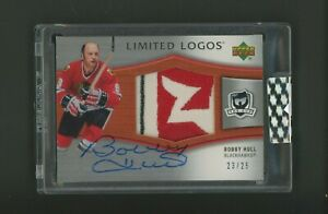 2005-06 UD THE CUP Limited Logos Bobby Hull Blackhawks Logo Patch AUTO /25