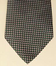 Christensen Sweden Tissé Cravate en soie Petit ovale Green Spot Motif Made in Italie