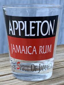 APPLETON JAMAICA RUM SHOT GLASS  THE SPIRIT OF JAMAICA