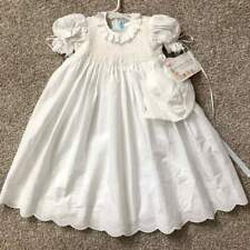 House of Hatten NWT Gorgeous Smocked Baby Girl Christening Gown Bonnet 6m