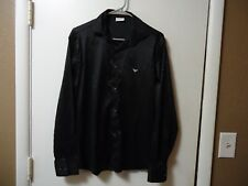 ARMANI JEANS MENS LONG SLEEVE BUTTON DOWN BLACK SHIRT SIZE S MADE IN ITALY