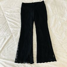 Moda International Lace Pants Size 8 Flare Victoria's Secret Hip Hugger Small