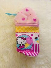 Hello Kitty Vintage Ice Cream Pencil Case Cosmetic Case Pouch Hobonichi Supply