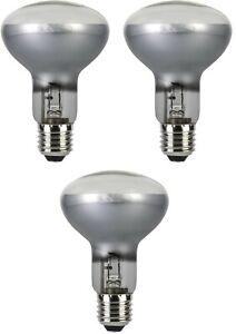 R80 Spotlight Bulbs 42w (=60w) Watt ES E27 Eco Halogen Screw in Spot Light x 3