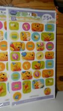 WINNIE THE POOH 1st Birthday Party PACKAGE of 2 Sheet STICKERS* New HALLMARK