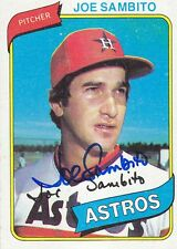 Joe Sambito Signed 1980 Topps #571 Astros Pitcher Autograph