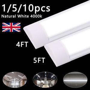 LED Batten Tube Light 4FT 5FT Linear Slimline Ceiling Lights 4000k Natural White
