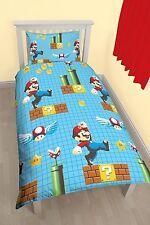 Nintendo Super Mario Maker solo juego de cama funda nórdica Individual Giratorio Funda De Almohada